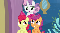 Cutie Mark Crusaders amused by Twilight S8E6