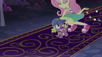 Fluttershy picking up Spike EG4