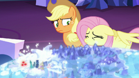 Fluttershy shuddering with worry S6E20