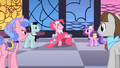 Pinkie Pie dancing as BG ponies watch S01E26.png