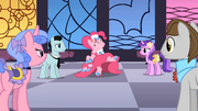 Pinkie Pie dancing as BG ponies watch S01E26