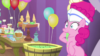 Pinkie Pie enjoying melted ice cream MLPS5