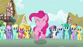 Pinkie Pie leaping crowd S2E18.png