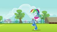 Primeira comemoração de Rainbow Dash EG