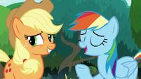 "Rainbow Dash ""Applejack should definitely be"" S8E9"