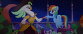 Rainbow Dash and Celaeno hoof-bump MLPTM.png