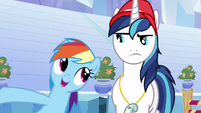 Rainbow Dash and Shining Armor -she's in charge- S03E12