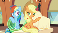 Rainbow Dash looking at Applejack S6E1.png