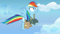 Rainbow Dash startled by her glowing cutie mark S6E24.png