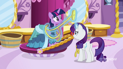 Rarity taking Twilight's measurements MLPCS1