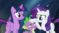 Rarity talking to Twilight about her key S4E25