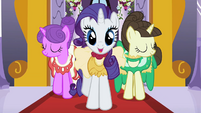 Rarity walking with Charm and Fine Line S2E09