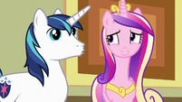 Shining Armor imitating Flurry Heart S7E3
