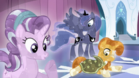 Starlight, Luna, and Sunburst crystallized S6E2