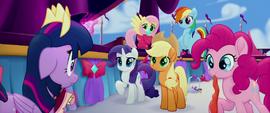 Twilight's friends watch her freak out MLPTM
