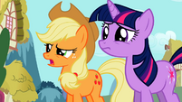 "Twilight and Applejack ""come again?"" S02E06"