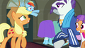 Applejack backing away from Mr. Stripes S6E9.png