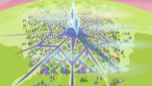 Bird's eye view of Crystal Empire EG