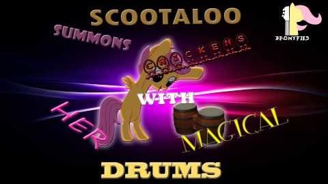 Bronyfied - Scootaloo Summons Chickens With Her Magical Drums