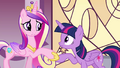 Cadance holds Twilight's hoof S4E26.png