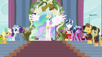 Celestia with other ponies S2E26