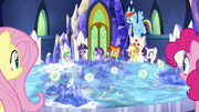 Cutie Map directs the Mane Six to the artifacts S7E25