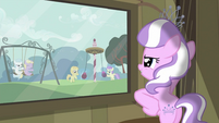 Diamond Tiara looking out through the window S2E23