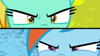 Lightning and Rainbow stare each other down S8E20