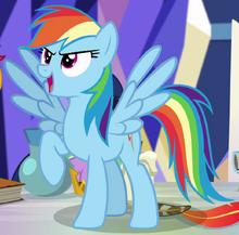 Rainbow Dash (EG) Pegasus form ID EGSB