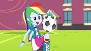 Rainbow Dash playing soccer EG