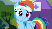 Rainbow looking at the other Wonderbolts S6E7