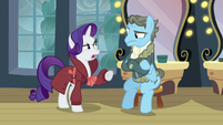 Rarity -Perhaps after they dropped off the fake letter- S5E15