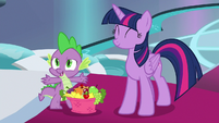 "Spike ""we would have forgot to celebrate"" S8E7"