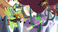 Spike sneezes green fire S5E10