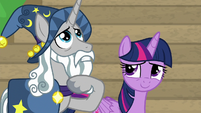 Star Swirl the Bearded stroking his beard S8E16