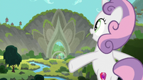 Sweetie Belle sings about Harmonizing Heights S8E6