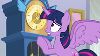 Twilight Sparkle looking at the time S8E25