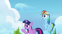 Twilight and Rainbow watch Vapor fly off S6E24