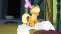Applejack shaking off hat S3E4.png