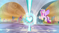 Crystal Heart pulsing with energy S9E1