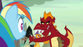 Garble refuses to race with Rainbow Dash S7E25.png