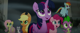 Mane Six and Spike entering Hippogriffia MLPTM