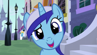 Minuette asks what Twilight's doing here S5E12
