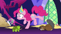 Pinkie Pie freezes in place S5E3