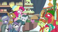 Pinkie Pie singing behind Pies and Apples MLPBGE