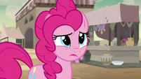 Pinkie Pie unsure about following A. K. Yearling S7E18