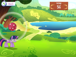 Playing Ball Bounce minigame MLP Game
