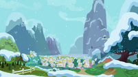 Ponyville in snow S2E11
