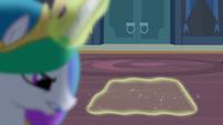 Princess Celestia using magic on compartment S4E2