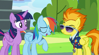Rainbow Dash gives a slightly amused laugh S6E24